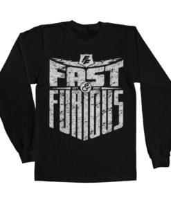 T-shirt manches longues Fast & Furious - Est. 2007 de couleur Noir