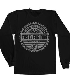 T-shirt manches longues Fast & The Furious Genuine Brand de couleur Noir