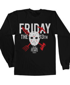 T-shirt manches longues Friday The 13th - The Day Everyone Fears de couleur Noir
