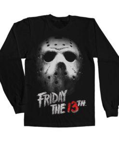 T-shirt manches longues Friday The 13th de couleur Noir