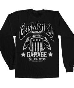 T-shirt manches longues Gas Monkey Garage - American Engine de couleur Noir