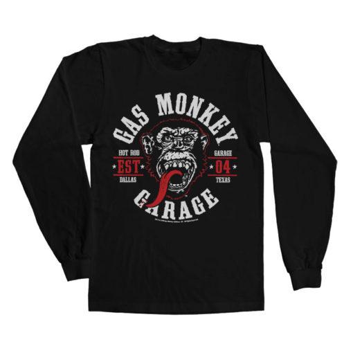 T-shirt manches longues GMG Round Seal de couleur Noir