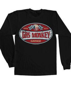 T-shirt manches longues GMG Since 2004 Label de couleur Noir