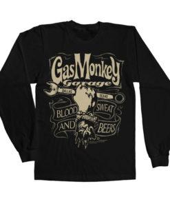 T-shirt manches longues GMG Wrench Label de couleur Noir