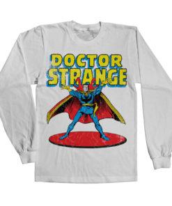 T-shirt manches longues Marvels Doctor Strange de couleur Blanc