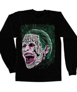 T-shirt manches longues Suicide Squad Joker de couleur Noir
