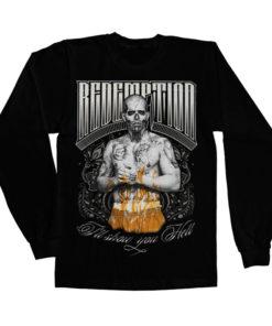 T-shirt manches longues Suicide Squad Redemption de couleur Noir