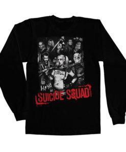 T-shirt manches longues Suicide Squad de couleur Noir