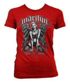 T-Shirt Marilyn Monroe - Cool Angel pour Femme de couleur Rouge