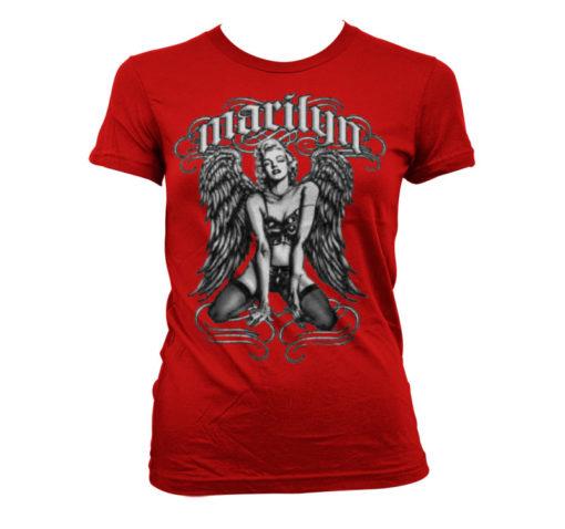 T-Shirt Marilyn Monroe - Cool Angel pour Femme de couleur Rouge