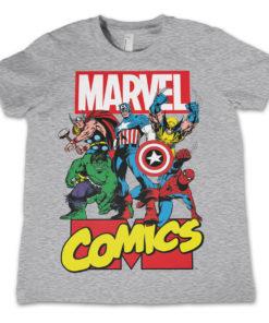 T-Shirt Marvel Comics Heroes pour enfant de couleur Gris