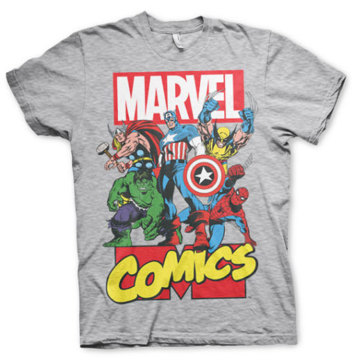 T-shirt Marvel Comics Gris chiné