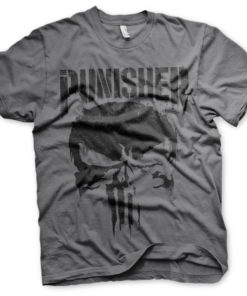 T-Shirt Marvel's The Punisher Big Skull de couleur Gris Foncé