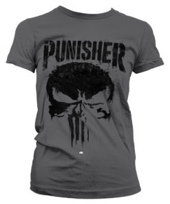 T-Shirt Marvel's The Punisher Big Skull pour Femme de couleur Gris Foncé