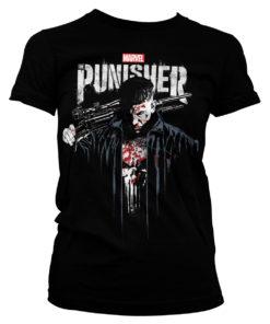 T-Shirt Marvel's The Punisher Blood pour Femme de couleur Noir