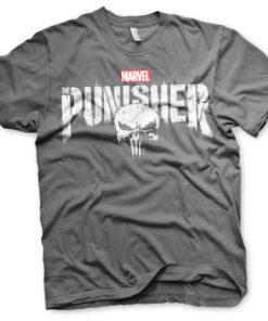 T-Shirt Marvel's The Punisher Logo de couleur Gris Foncé