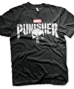 T-Shirt Marvel's The Punisher Logo de couleur Noir