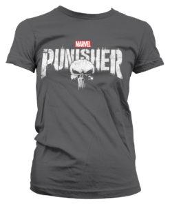 T-Shirt Marvel's The Punisher Logo pour Femme de couleur Gris Foncé