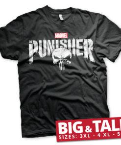 T-shirt Marvel's The Punisher Logo grandes Tailles de couleur Noir