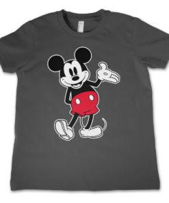 T-Shirt Mickey Mouse Classic pour enfant de couleur Gris Foncé