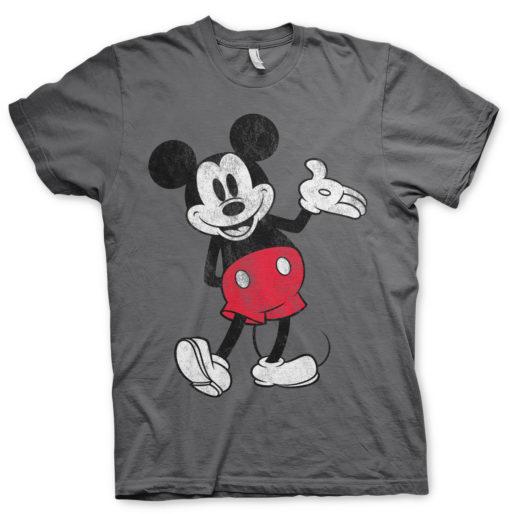 T-Shirt Mickey Mouse de couleur Gris Foncé