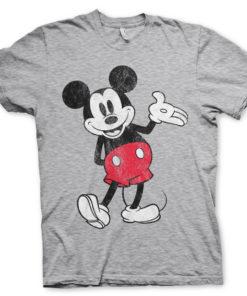 T-Shirt Mickey Mouse de couleur Gris