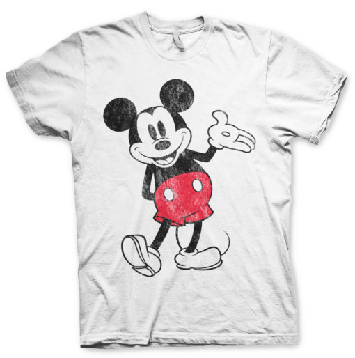 T-Shirt Mickey Mouse de couleur Blanc