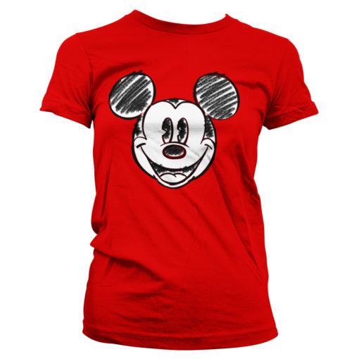 T-Shirt Mickey Mouse pour femme de couleur rouge