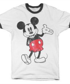 T Shirt Mickey Mouse Ringer  de couleur