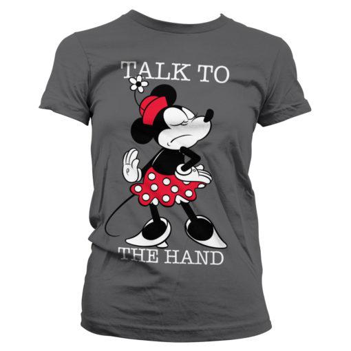 T-Shirt Minnie pour Femme de couleur Gris Foncé