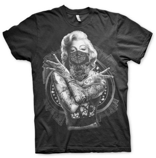 T-shirt Monroe Outlaw grandes Tailles de couleur Noir