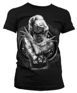 T-Shirt Monroe Outlaw pour Femme de couleur Noir