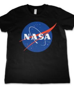 T-Shirt NASA Insignia  pour enfant de couleur Noir