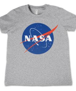 T-Shirt NASA Insignia  pour enfant de couleur Gris Chiné