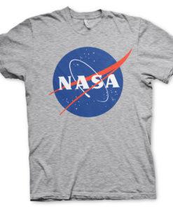 T-Shirt NASA Insignia de couleur Gris Chiné