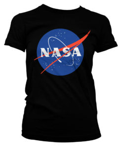 T-Shirt NASA Insignia pour Femme de couleur Noir