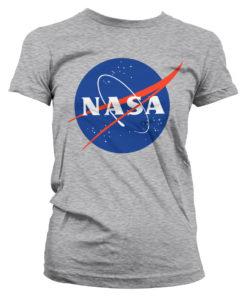 T-Shirt NASA Insignia pour Femme de couleur Gris Chiné