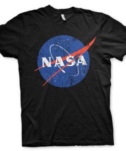 T-Shirt NASA Washed Insignia de couleur Noir