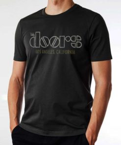 T-shirt noir THE DOORS avec inscription Los Angeles, California