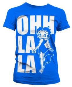 T-Shirt Ohh La La pour Femme de couleur Bleu