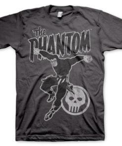 T-shirt Phantom Jump grandes Tailles de couleur Gris Foncé
