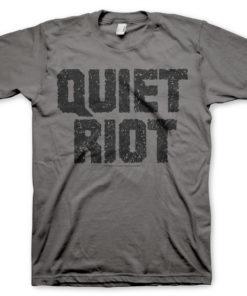 T-Shirt Quiet Riot Logo de couleur Gris Foncé