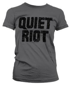 T-Shirt Quiet Riot Logo pour Femme de couleur Gris Foncé
