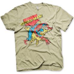 T-shirt Retro Spider-Man grandes Tailles de couleur Kaki