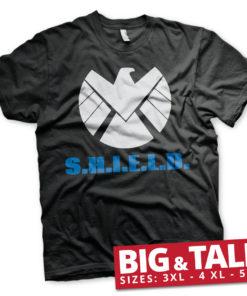 T-shirt S.H.I.E.L.D. grandes Tailles de couleur Noir