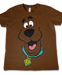 T-Shirt Scooby Doo Face   pour enfant de couleur Marron