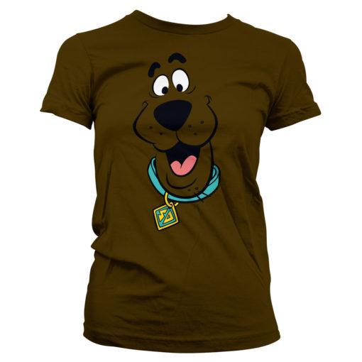 T-Shirt Scooby Doo Face pour Femme de couleur Marron