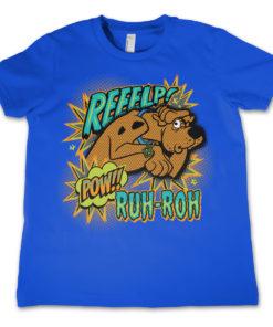 T-Shirt Scooby Doo Reeelp   pour enfant de couleur Bleu