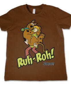T-Shirt Scooby Doo Ruh-Ruh   pour enfant de couleur Marron