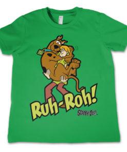 T-Shirt Scooby Doo Ruh-Ruh   pour enfant de couleur Vert